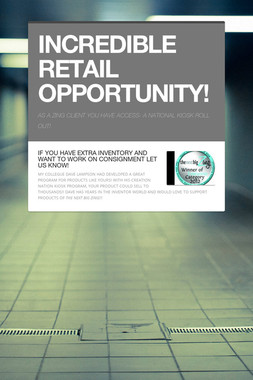 INCREDIBLE RETAIL OPPORTUNITY!