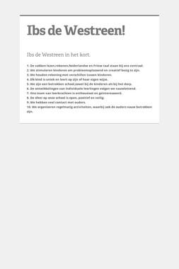 Ibs de Westreen!