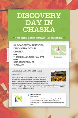 Discovery Day in Chaska