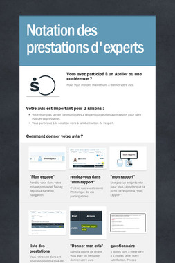 Notation des prestations d'experts