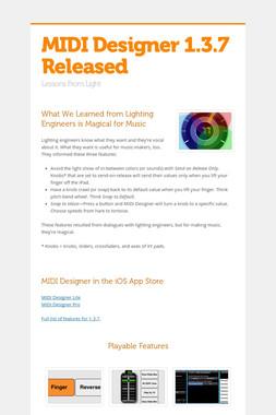 MIDI Designer 1.3.7 Released