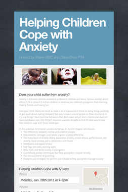 Helping Children Cope with Anxiety