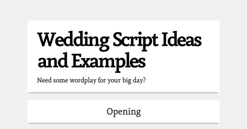 Wedding Script Ideas And Examples Smore Newsletters
