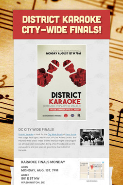 District Karaoke City-Wide Finals!