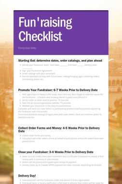 Fun'raising Checklist