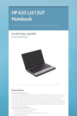 HP 635 LJ512UT Notebook