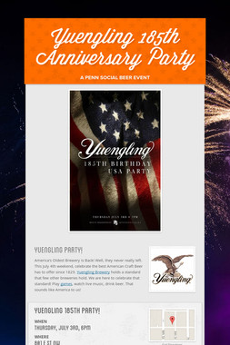 Yuengling 185th Anniversary Party
