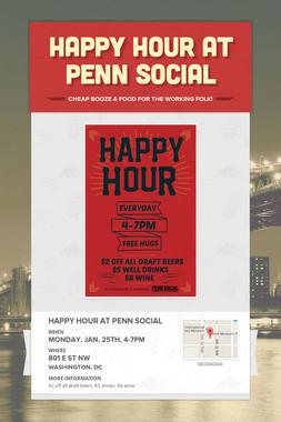 Happy Hour at Penn Social