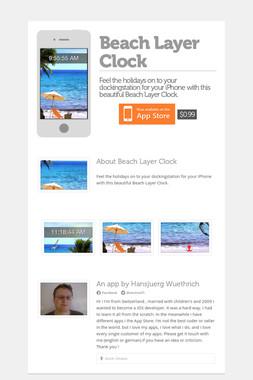 Beach Layer Clock