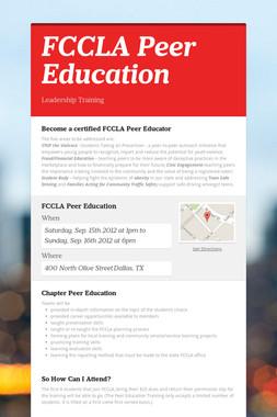 FCCLA Peer Education
