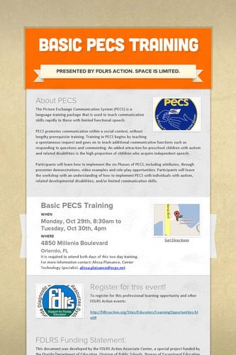 Basic PECS Training