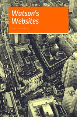 Watson's Websites