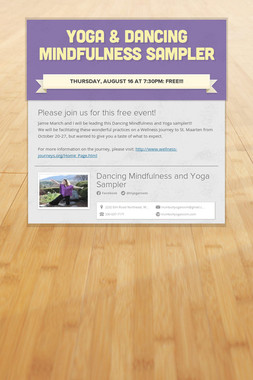 Yoga & Dancing Mindfulness Sampler