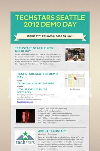 TechStars Seattle 2012 Demo Day