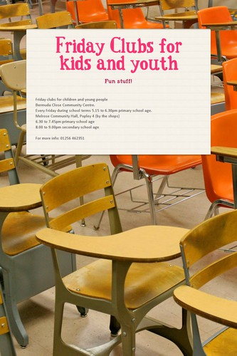 Friday Clubs for kids and youth