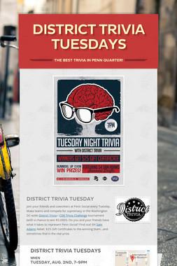 District Trivia Tuesdays