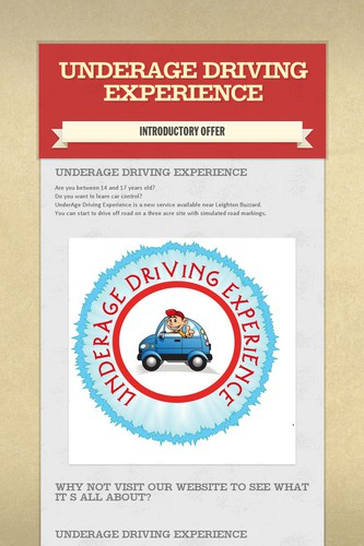 UnderAge Driving Experience