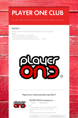 PLAYER ONE CLUB