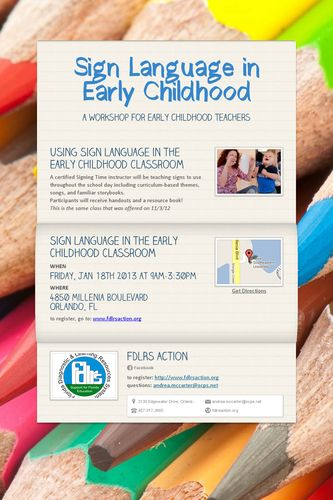 Sign Language in Early Childhood