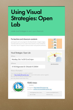 Using Visual Strategies: Open Lab