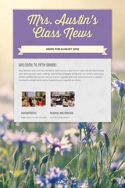 Mrs. Austin's Class News