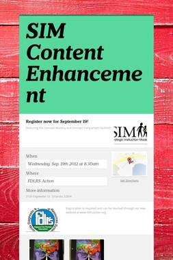 SIM Content Enhancement