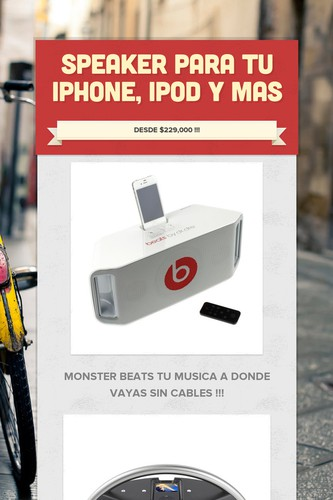 SPEAKER PARA TU IPHONE, IPOD Y MAS