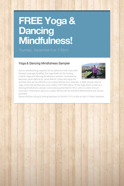 FREE Yoga & Dancing Mindfulness!