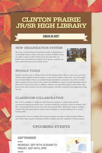 Clinton Prairie Jr/Sr High Library