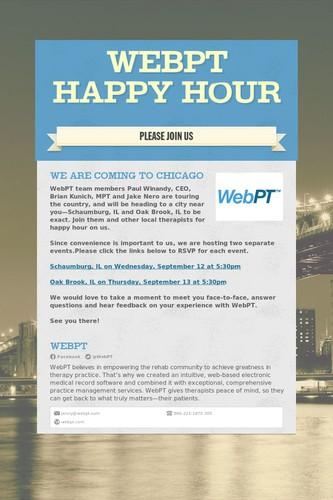 WebPT Happy Hour