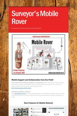 Surveyor's Mobile Rover