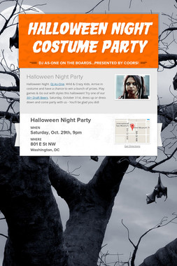 Halloween Night Costume Party