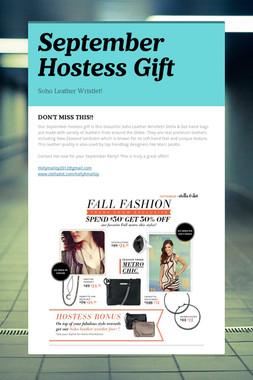 September Hostess Gift