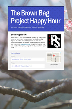The Brown Bag Project Happy Hour