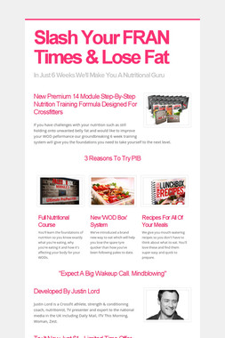 Slash Your FRAN Times & Lose Fat