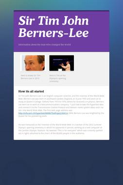 Sir Tim John Berners-Lee