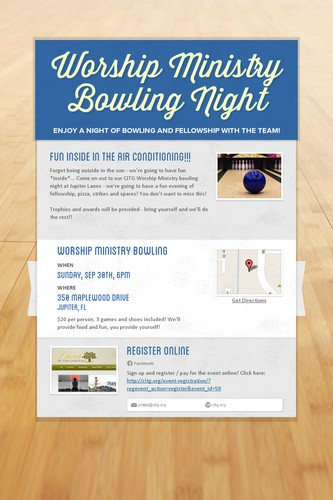 Worship Ministry Bowling Night