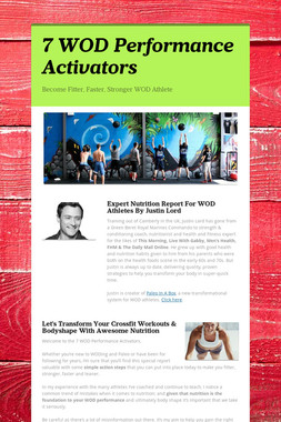 7 WOD Performance Activators
