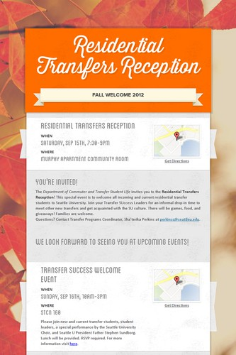 Residential Transfers Reception