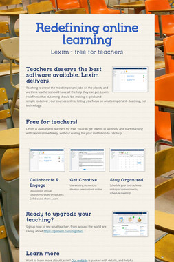 Redefining online learning