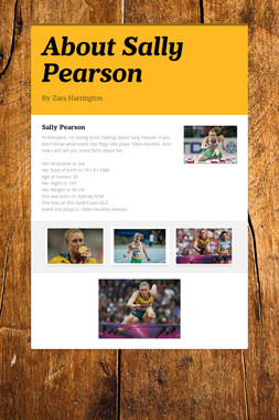 About Sally Pearson