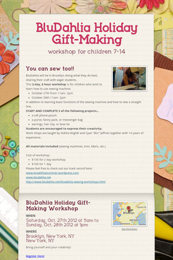 BluDahlia Holiday Gift-Making