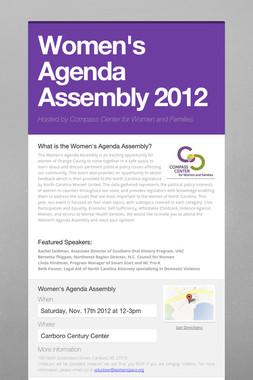 Women's Agenda Assembly 2012