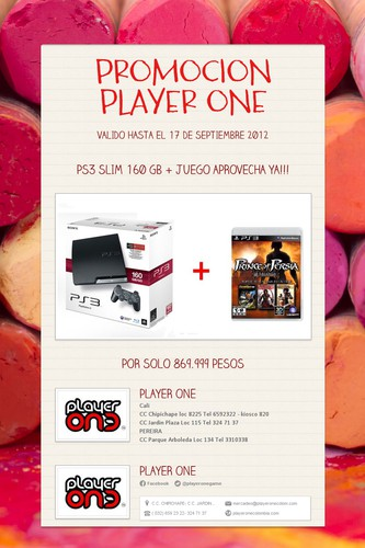 PROMOCION PLAYER ONE