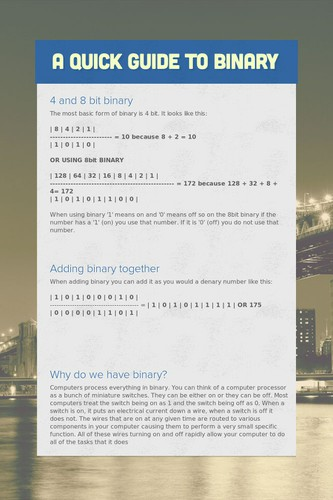 A QUICK GUIDE TO BINARY