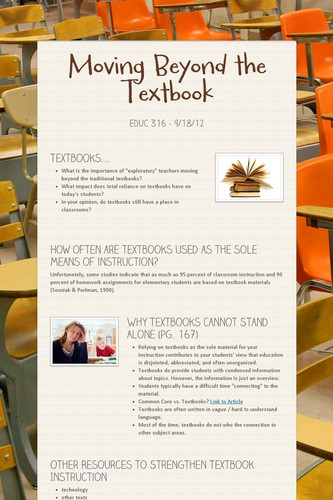 Moving Beyond the Textbook