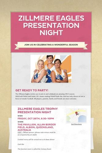 Zillmere Eagles Presentation Night