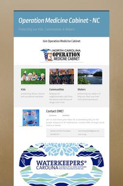 Operation Medicine Cabinet - NC