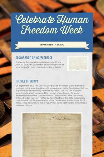 Celebrate Human Freedom Week