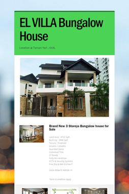 EL VILLA Bungalow House